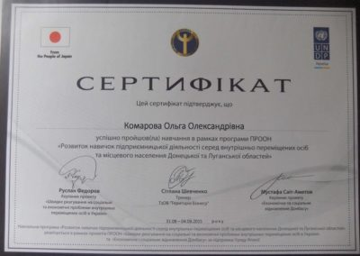 Сертификат ПРООН-low